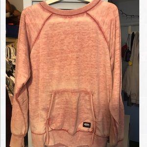 pink vans sweater w/pocket/sleeve